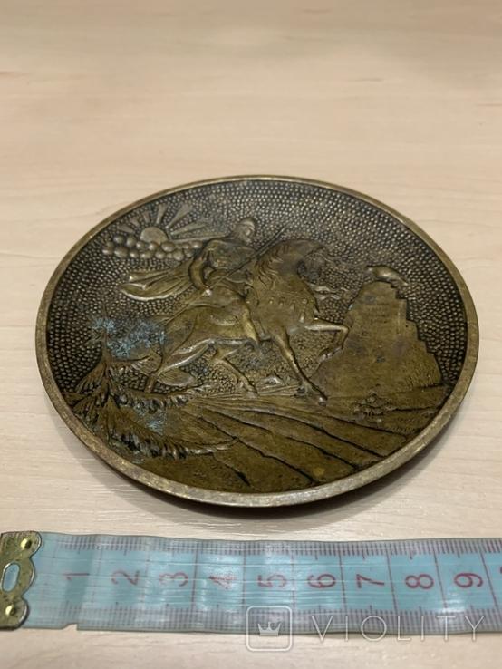 Пепельница Богатырь Латунь, фото №3