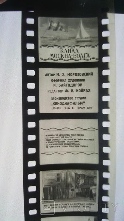 Диафильм Канал Москва-Волга 1947