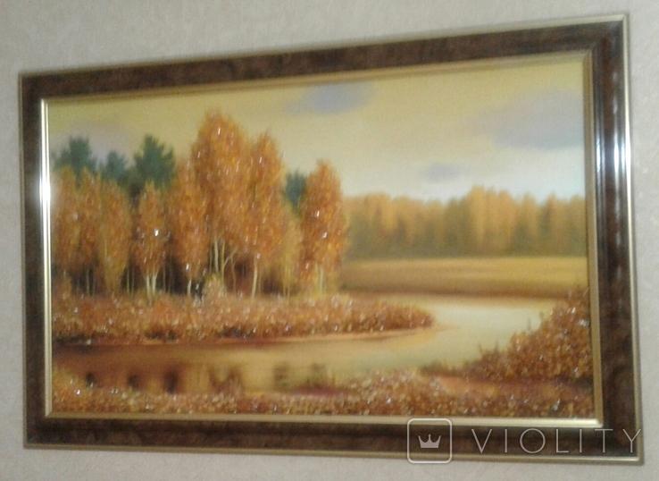 Картина оформленная янтарем, фото №2