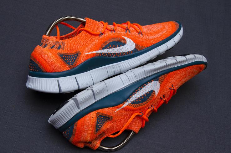 Кроссовки Nike Free 5. 0 Flyknit. Стелька 24,5 см, фото №8