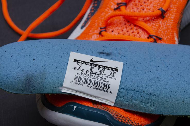 Кроссовки Nike Free 5. 0 Flyknit. Стелька 24,5 см, фото №10