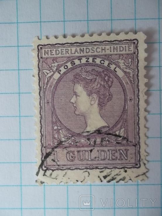 Марка. Голландская Ост-Индия 1905-1906 Королева Вильгельмина, фото №5