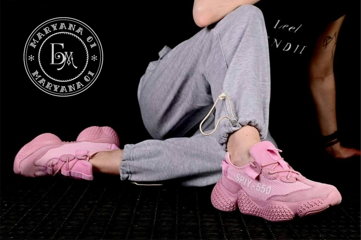 Женские кроссовки Adidas Yeezy Spiy-550 / розовые 37 размер, фото №4
