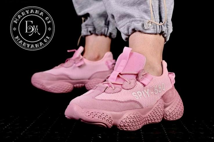 Женские кроссовки Adidas Yeezy Spiy-550 / розовые 37 размер, фото №6
