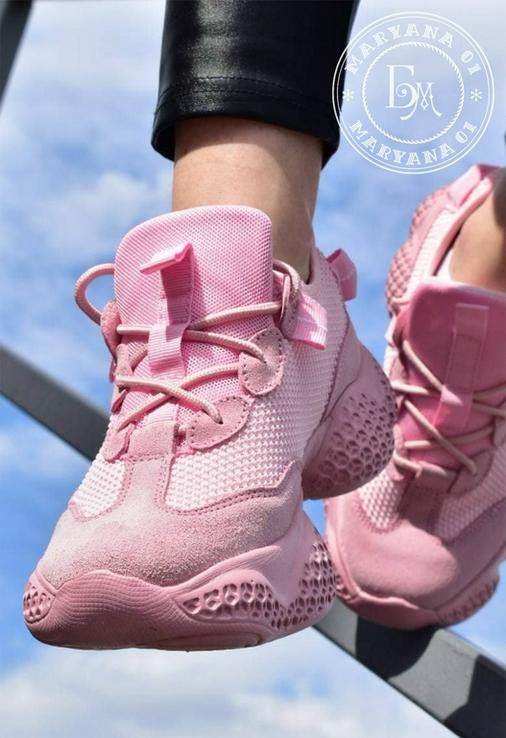 Женские кроссовки Adidas Yeezy Spiy-550 / розовые 37 размер, фото №10