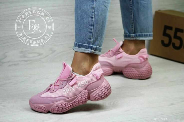 Женские кроссовки Adidas Yeezy Spiy-550 / розовые 37 размер, фото №13