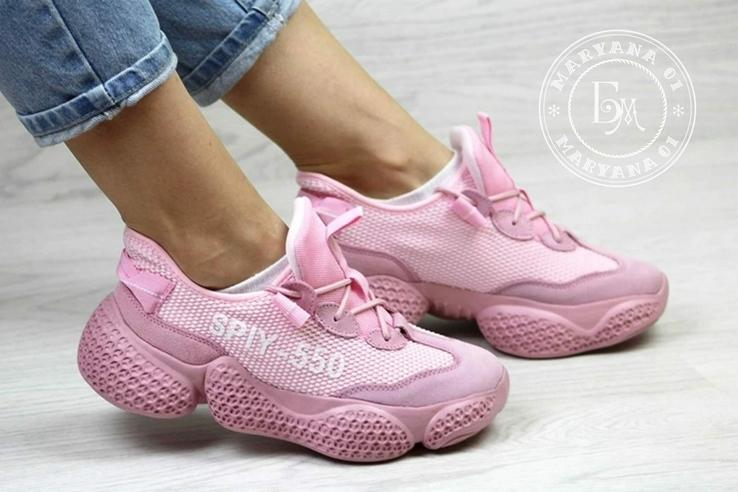 Женские кроссовки Adidas Yeezy Spiy-550 / розовые 37 размер, фото №2