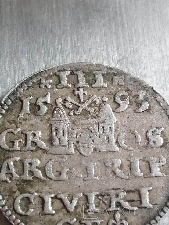 Монета 1593 року. Срiбла(Аg) 2.62 гр., фото №4