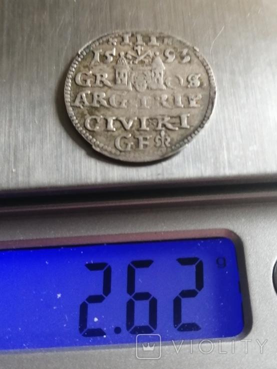 Монета 1593 року. Срiбла(Аg) 2.62 гр., фото №5