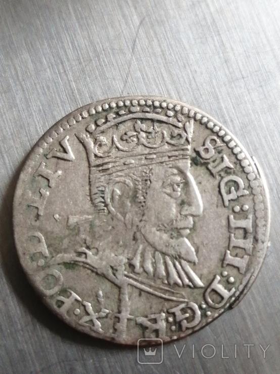 Монета 1593 року. Срiбла(Аg) 2.62 гр., фото №8