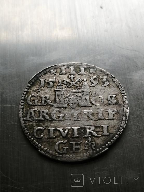Монета 1593 року. Срiбла(Аg) 2.62 гр., фото №9