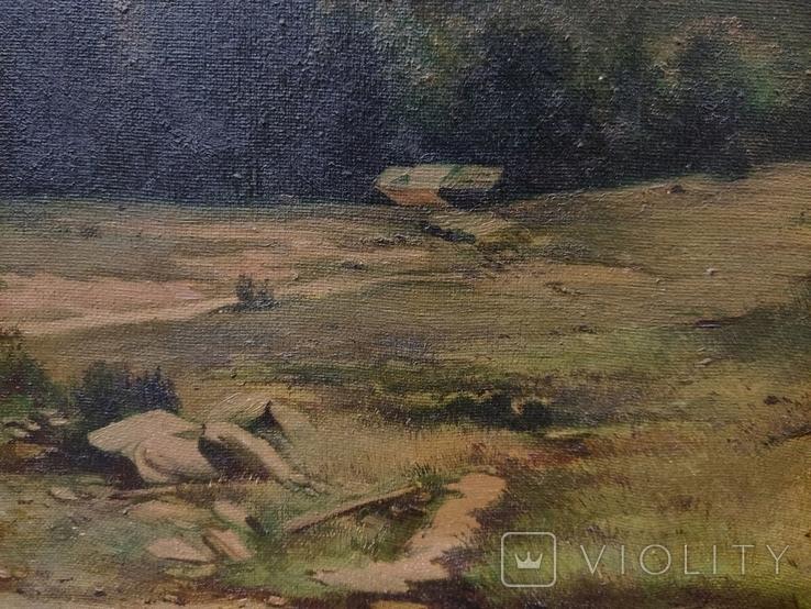 Старинная картина,пейзаж, фото №4