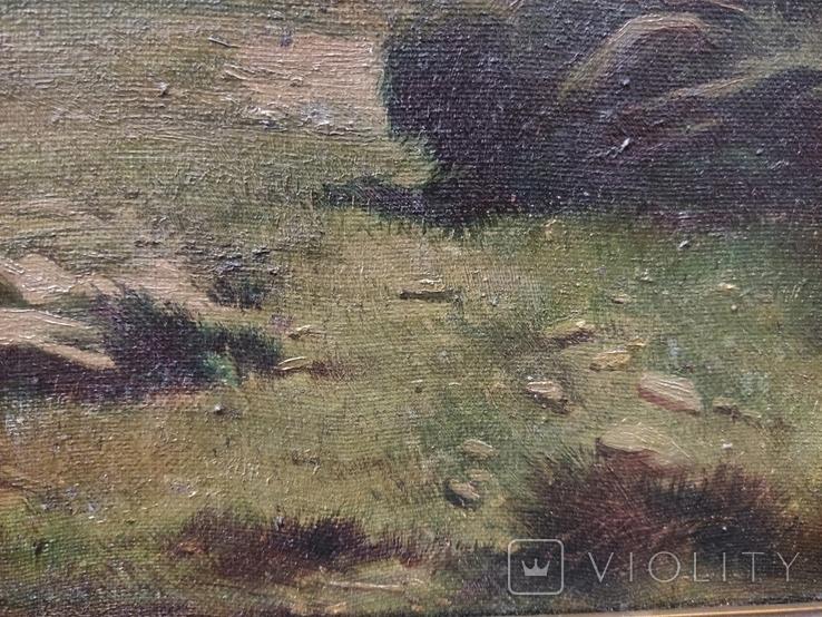 Старинная картина,пейзаж, фото №7