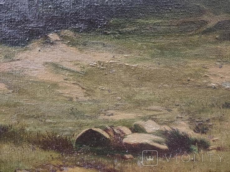 Старинная картина,пейзаж, фото №8