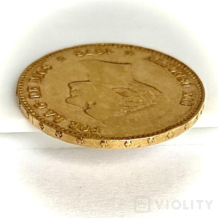 25 песет. 1878. Альфонсо XII. Испания (золото 900, вес 8,07 г) (8.), фото №11