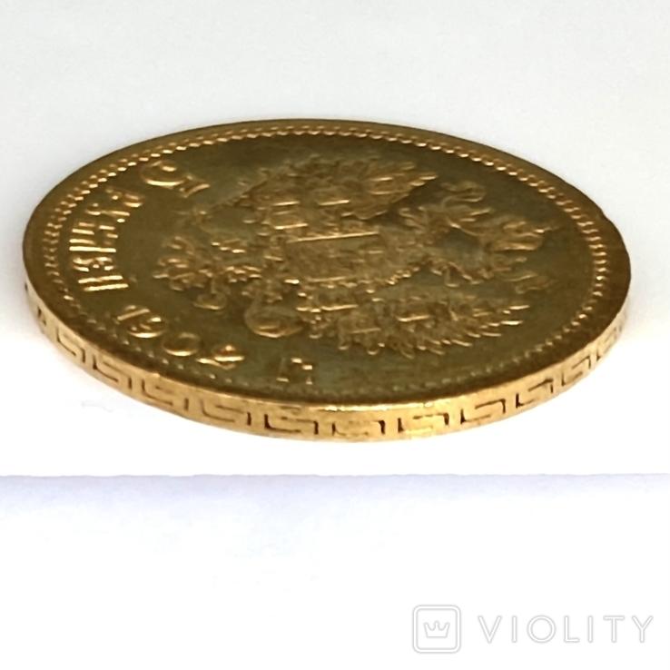 5 рублей. 1902. (АР) Николай II (проба 900 , вес 4,30 г), фото №11
