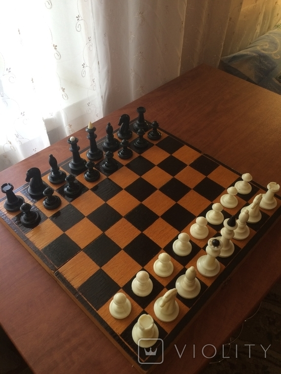 Шахматы карболит доска 37 см, фото №3