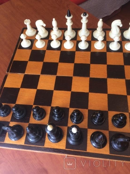 Шахматы карболит доска 37 см, фото №5