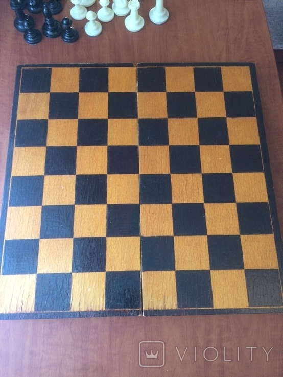 Шахматы карболит доска 37 см, фото №8