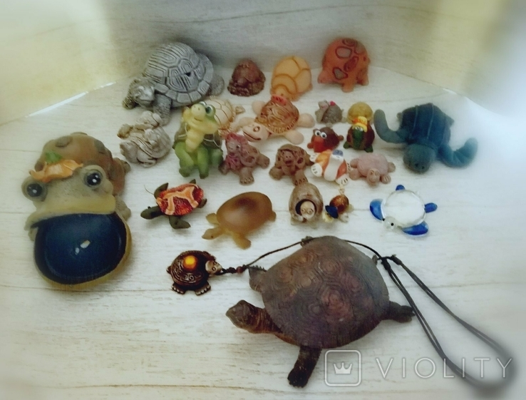 Коллекция черепашек, черепашка. 25штук одним лотом., фото №3