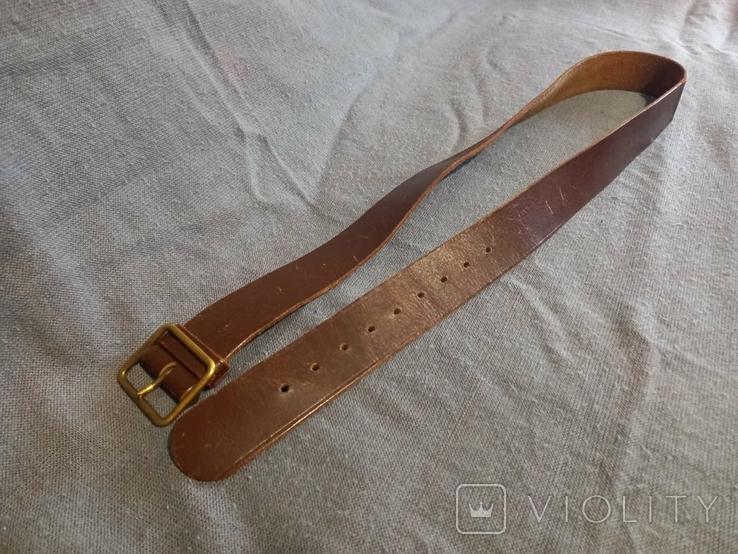 Старый кожаный пояс Германия ремень, фото №3