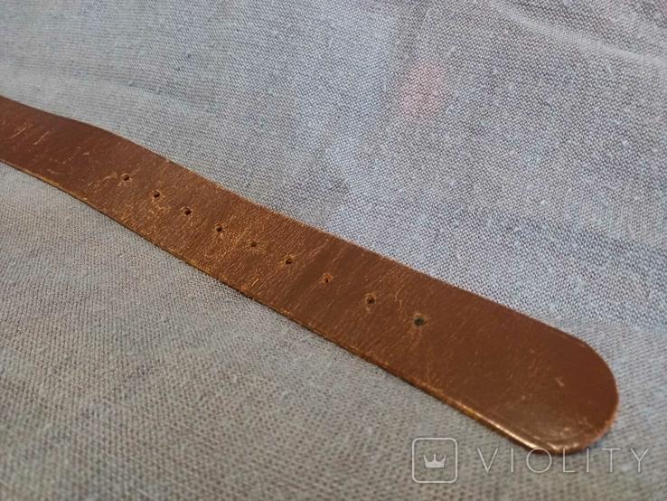 Старый кожаный пояс Германия ремень, фото №4