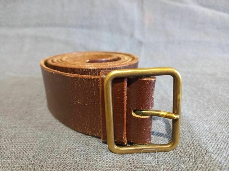 Старый кожаный пояс Германия ремень, фото №2