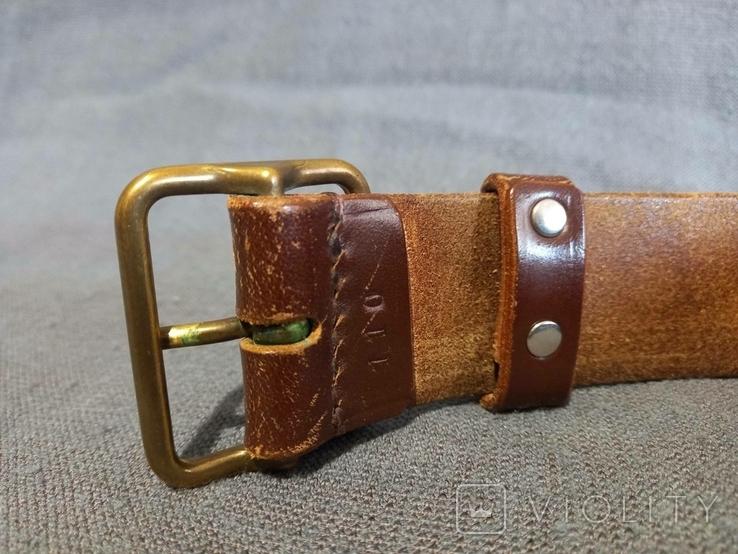 Старый кожаный пояс Германия ремень, фото №6