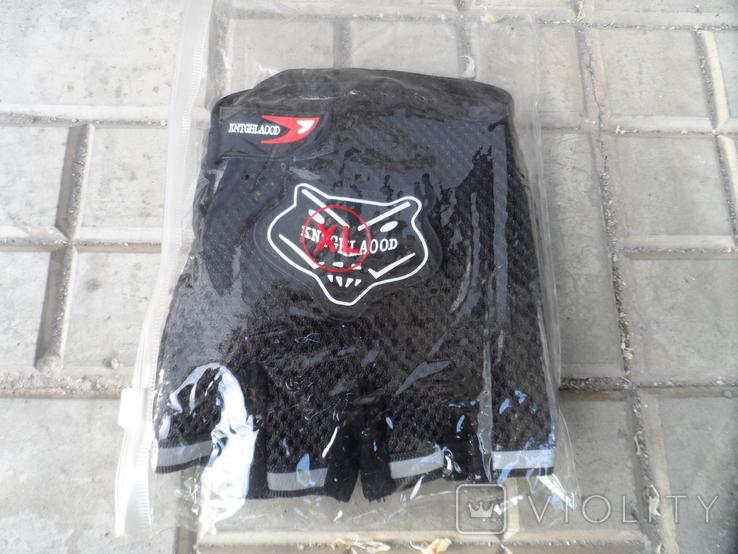 Вело перчатки черные, фото №5