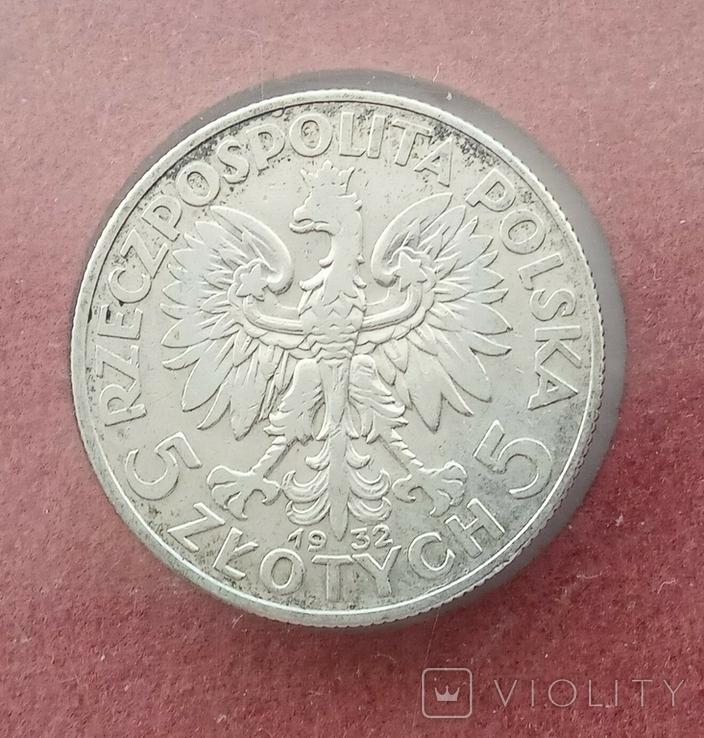5 злотых 1932 года серебро, фото №5