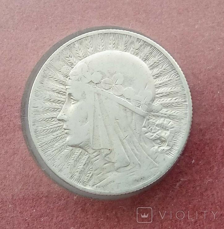 5 злотых 1932 года серебро, фото №6