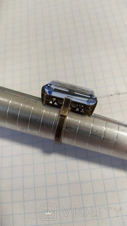 Серебренный перстень из СССР. 875 со звездой., фото №5