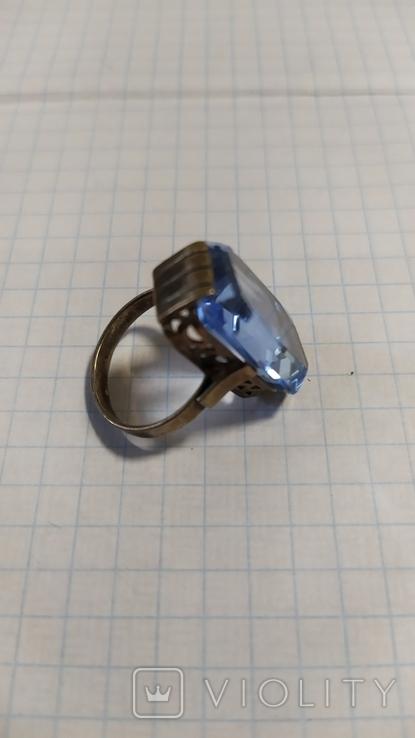 Серебренный перстень из СССР. 875 со звездой., фото №2