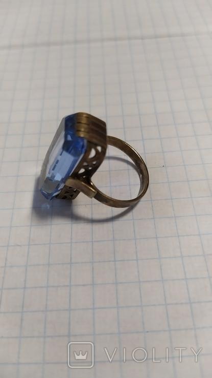 Серебренный перстень из СССР. 875 со звездой., фото №8