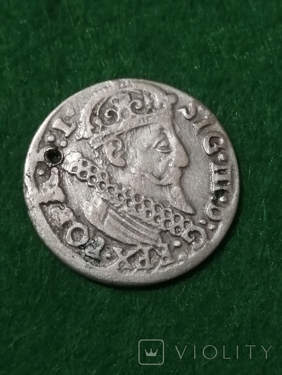 Монета, 1624 року Сигизмунд - III, Серебра(Аg)1.89 грамма, фото №3