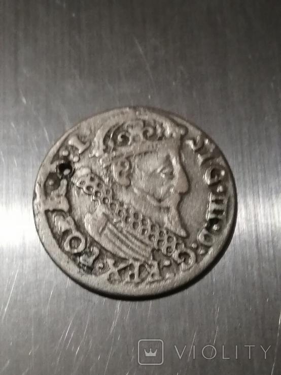 Монета, 1624 року Сигизмунд - III, Серебра(Аg)1.89 грамма, фото №4
