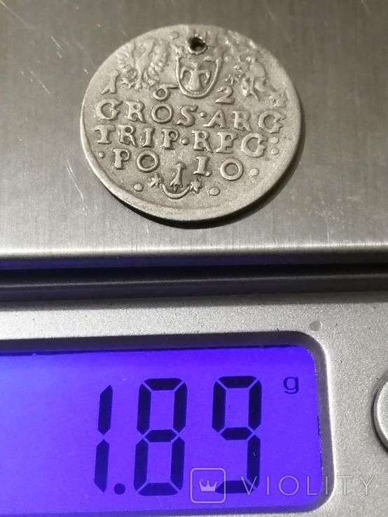 Монета, 1624 року Сигизмунд - III, Серебра(Аg)1.89 грамма, фото №6