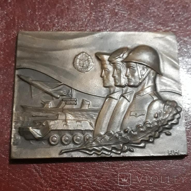 Настольная медаль  - рода войск , социалистических стран, фото №2