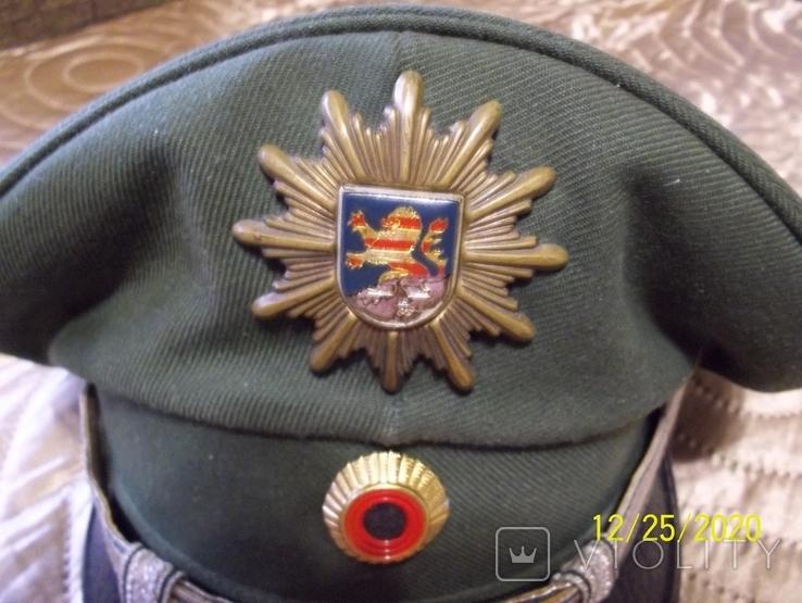 Фуражка  офицерская  тюрингия    полиция.  германия., фото №3