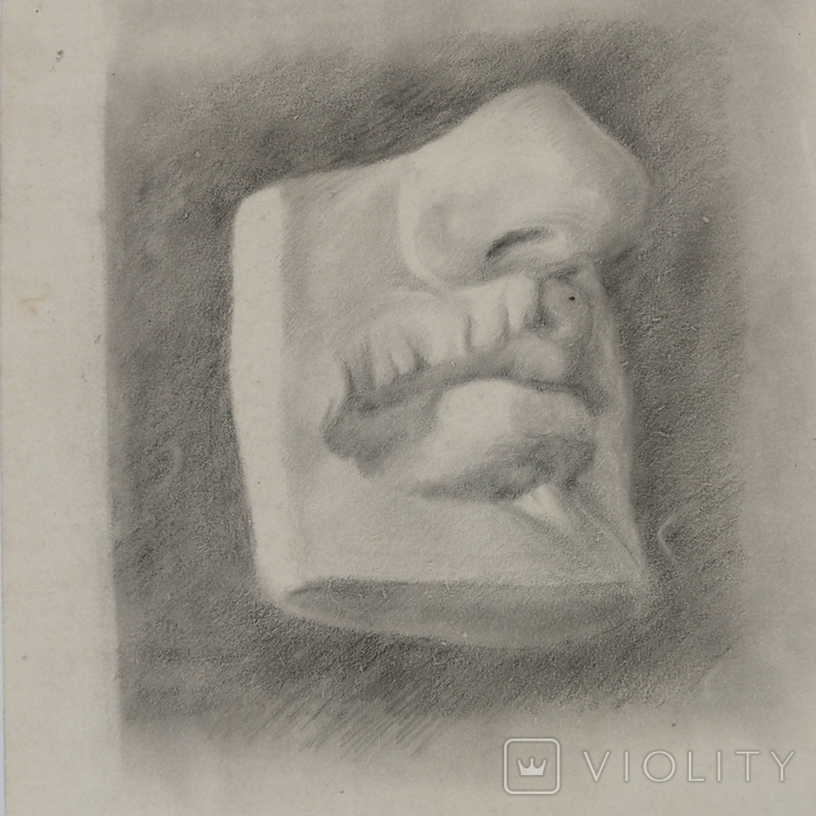 Картина карандашом 1947 года, Суворова Всеволода Леонидовича, фото №3