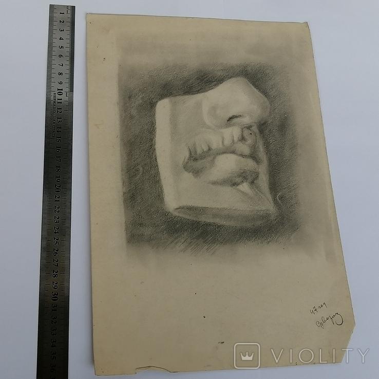 Картина карандашом 1947 года, Суворова Всеволода Леонидовича, фото №6