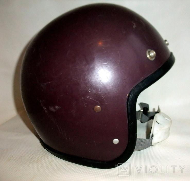 Шлем - каска с защитой для подбородка мотоциклиста из СССР., фото №3