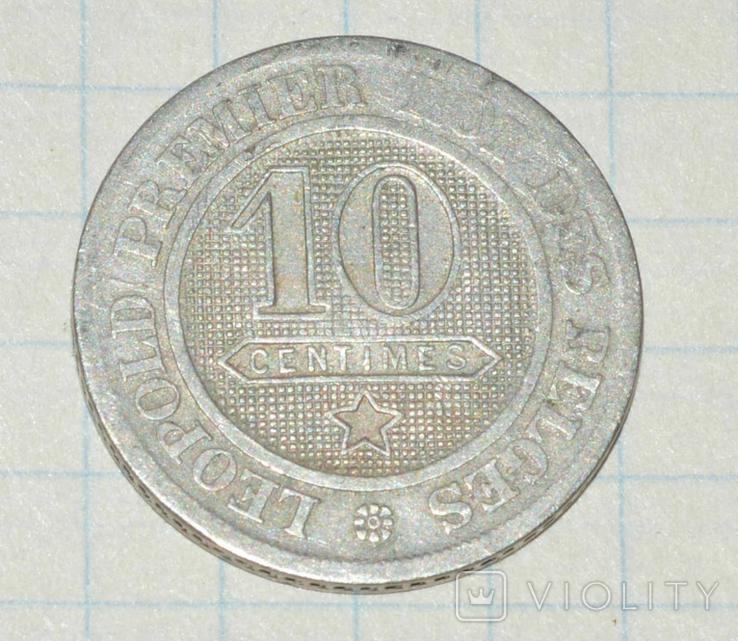 10 сантимов бельгия 1863, фото №2