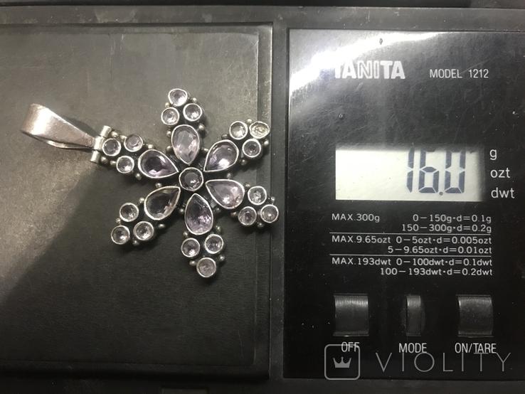 Кулон натуральный камень серебро, фото №6