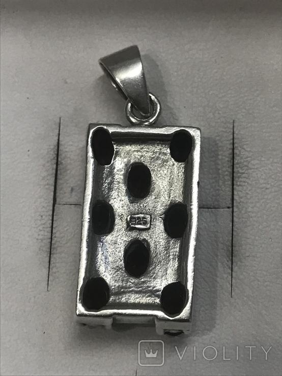Кулон натуральный камень Гранат серебро, фото №6