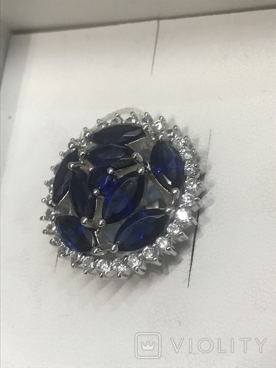 Кулон камни серебро, фото №3