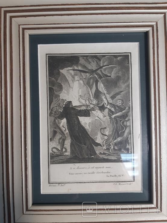 "1784 Гравюра ""Сказки и сатиры"" Жана-Мишеля Моро"