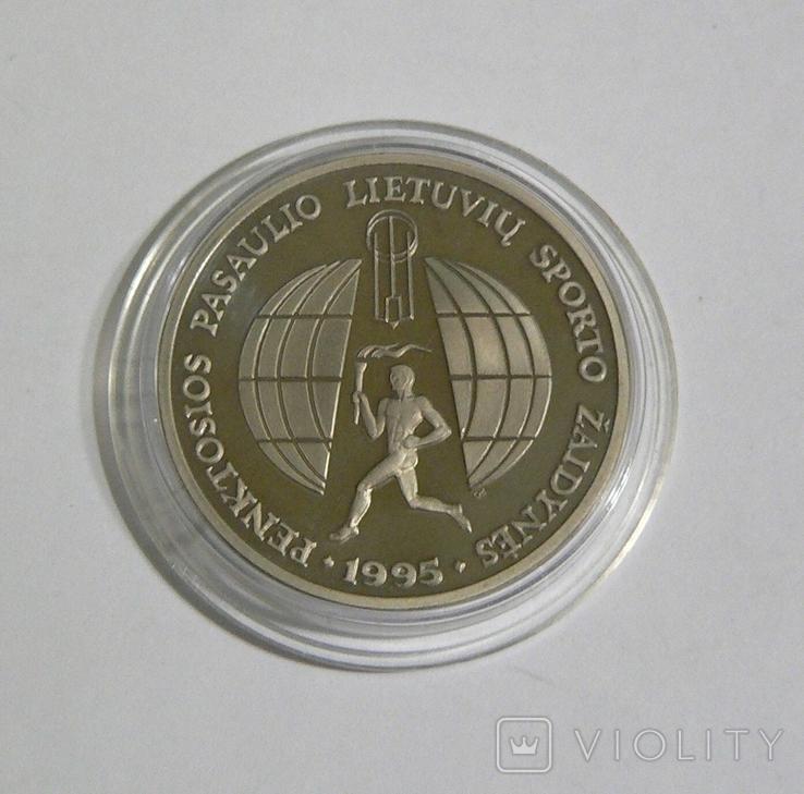 Литва, 10 лит 1995, фото №2