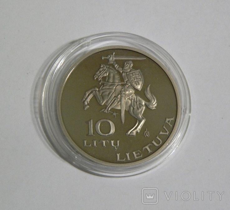 Литва, 10 лит 1995, фото №3