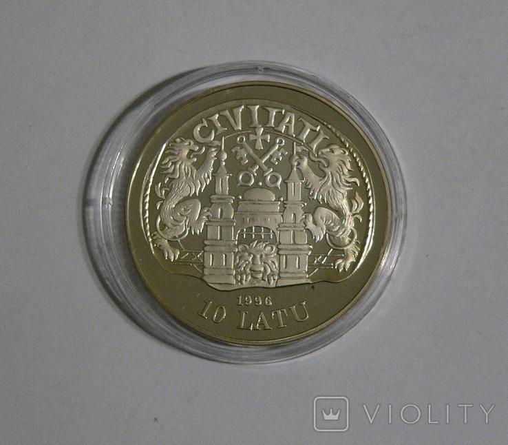 Латвия, 10 лат 1996 - 800 ЛЕТ РИГЕ - серебро, фото №3